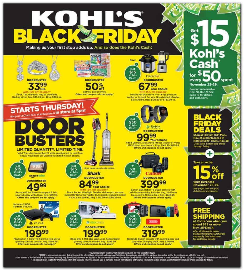 Kohls Black Friday Sales Ad