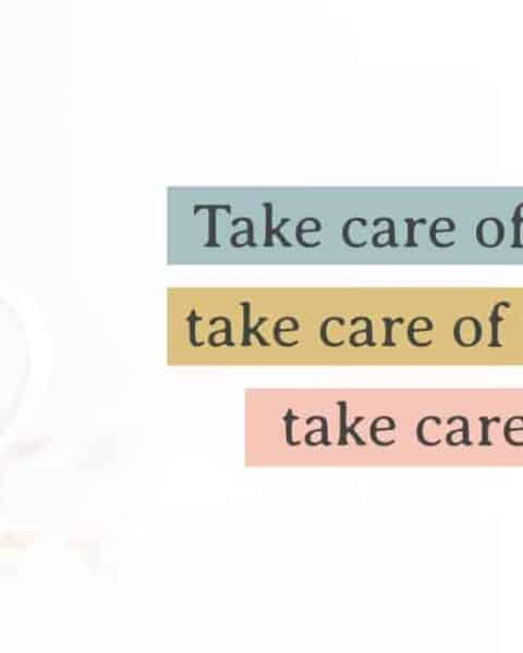 Inspirational quote about motherhood and practicing self-care.