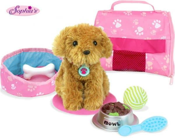 Sophia\'s Pet dog with accessories.