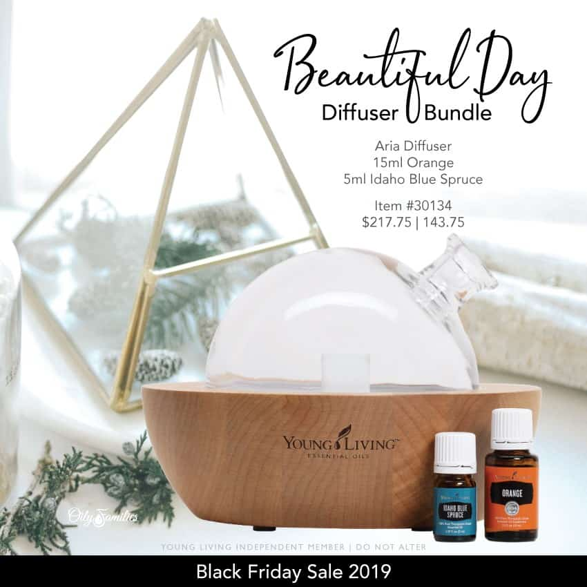 Beautiful Day diffuser bundle from Young Living essential oils.