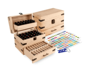 Wooden Essential Oils Case Organizer