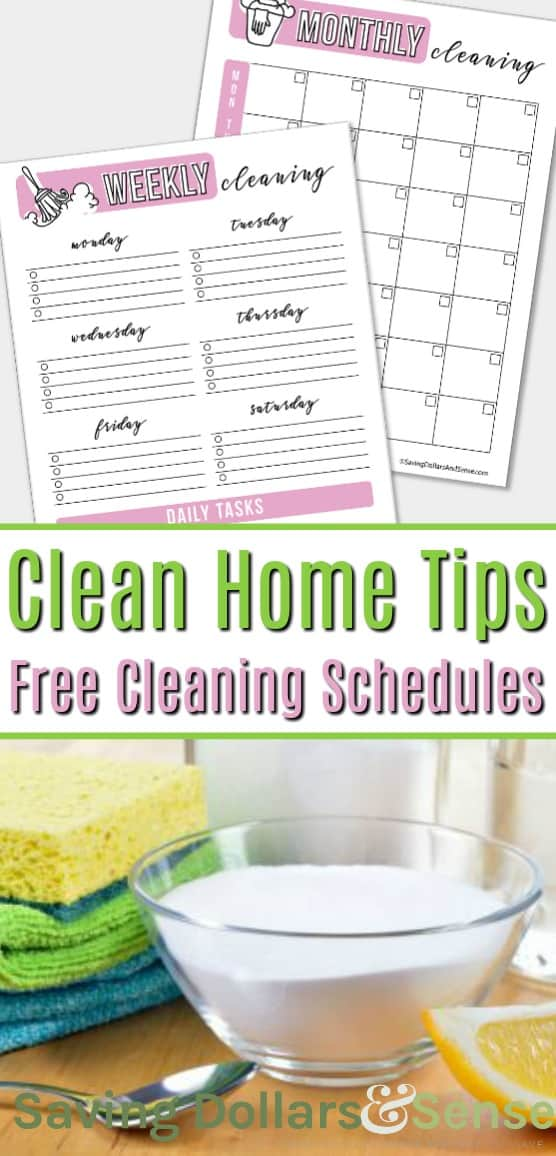 Grab Your FREE Printable Cleaning Schedules