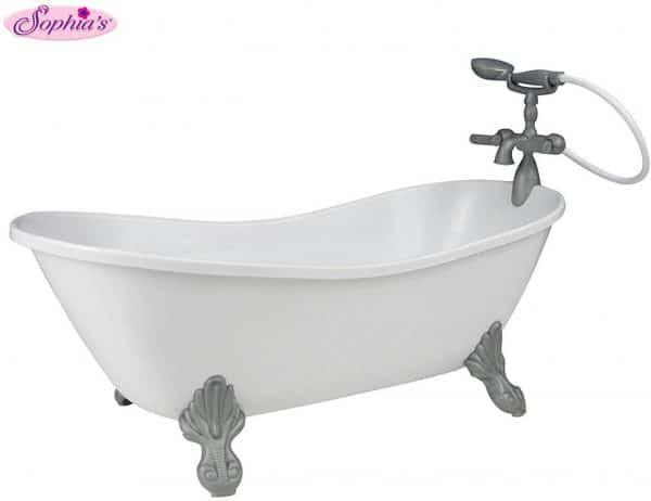 american girl bathtub with hand shower.