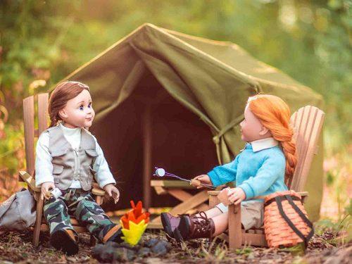 american girl camping tent