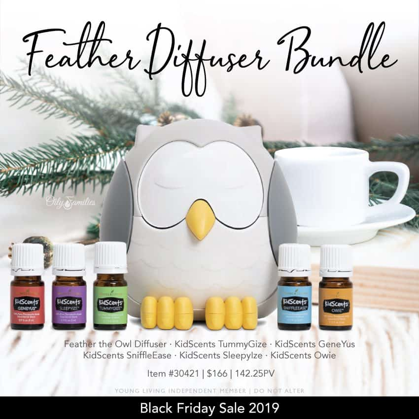 Feather diffuser bundle from Young Living Black Friday essential oil sale.