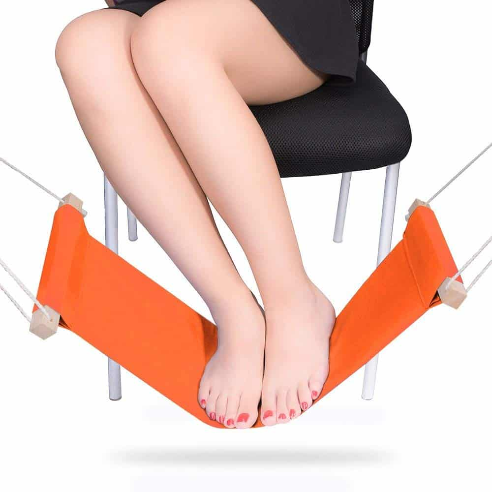 Smargreho desk foot hammock.