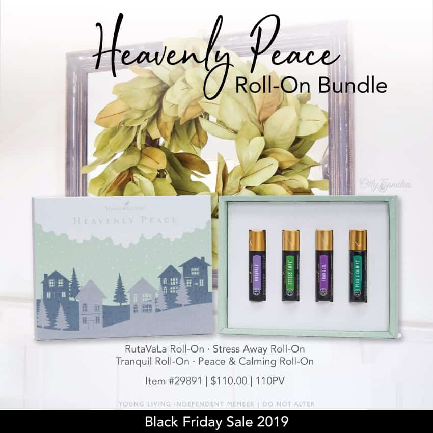 Heavenly Peace roll-on bundle from Young Living black friday sale.