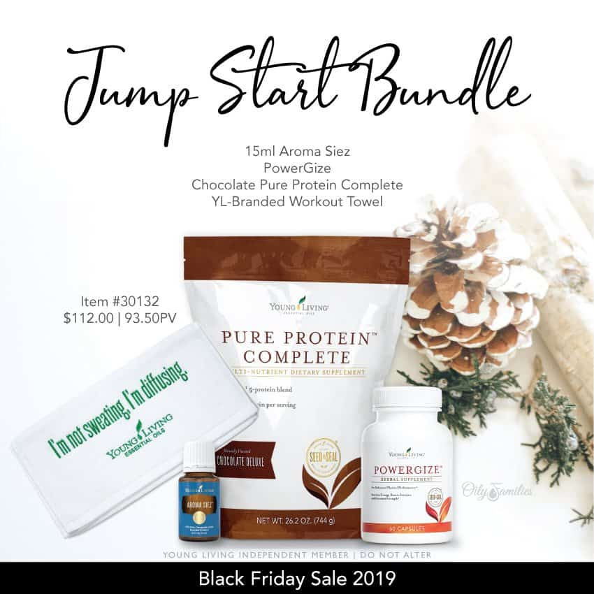 Jump start bundle from Young Living black friday deals.