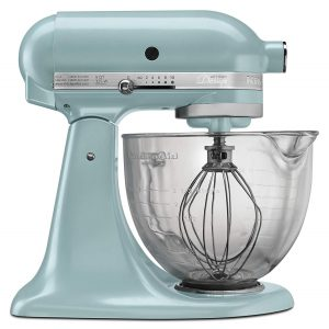 kitchenaid 5 qt with glass bowl