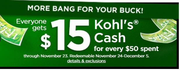 Kohl\'s Black Friday sale.