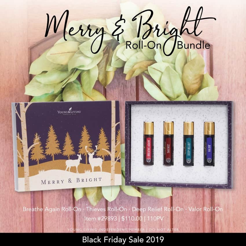 Merry and Bright roll-on bundle from Young Living essential oil.