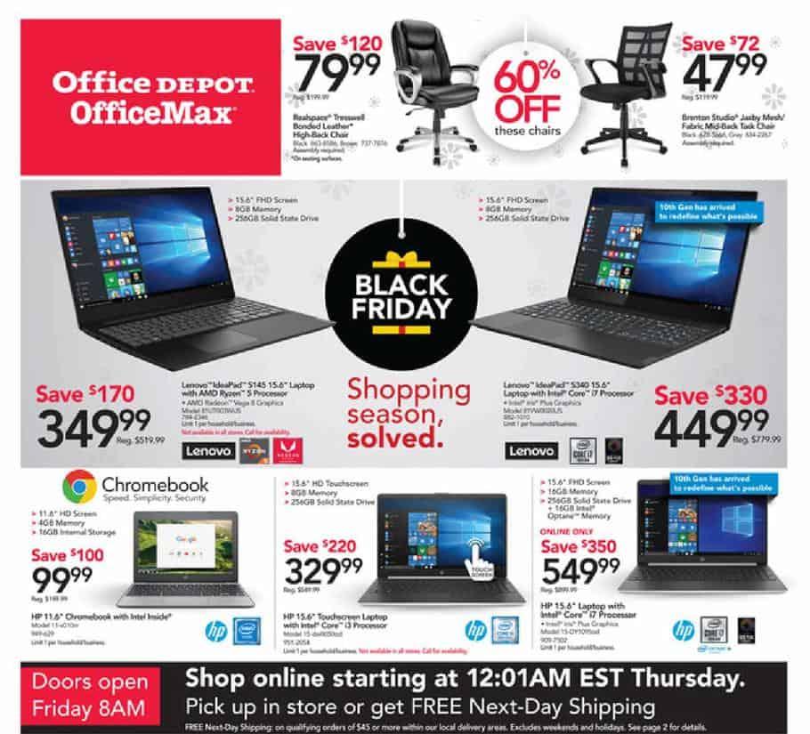 office max office depot black friday 2019