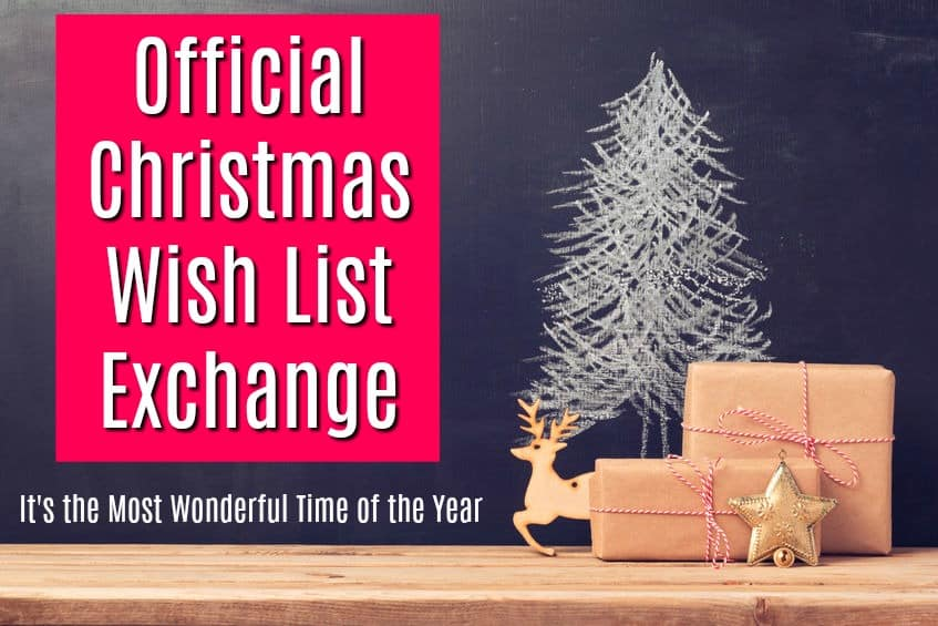How to do an official Christmas wish list exchange.