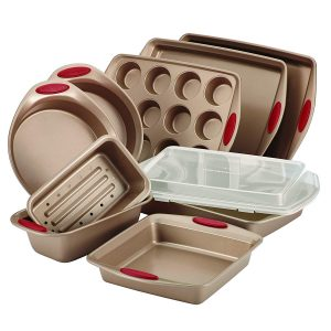 Rachael Ray 10-piece non-stick bakeware set.
