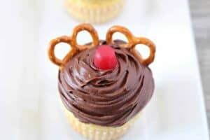 Red Nosed Reindeer Cupcakes