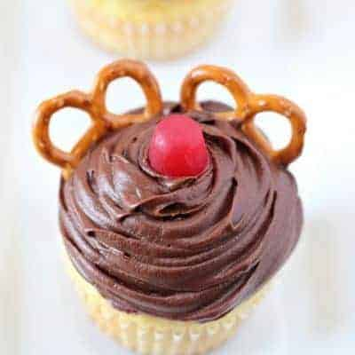 Red Nosed Reindeer Cupcakes