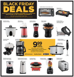 Kohl's Black Friday Small Kitchen Appliances $1.69 TODAY