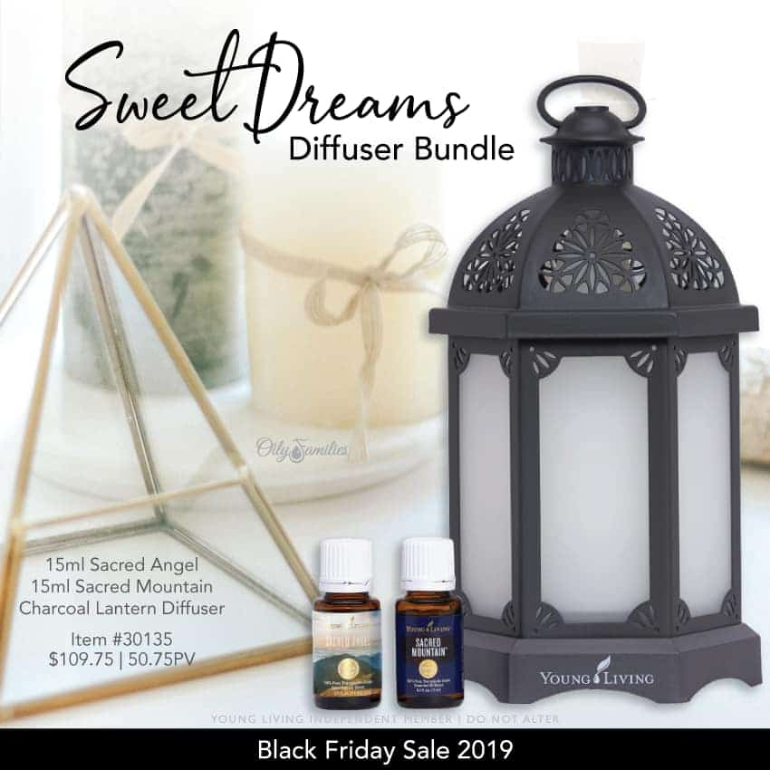 Sweet dreams diffuser bundle from Young Living essential oils.