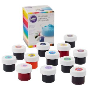 Wilton certified food coloring for icing and frosting.
