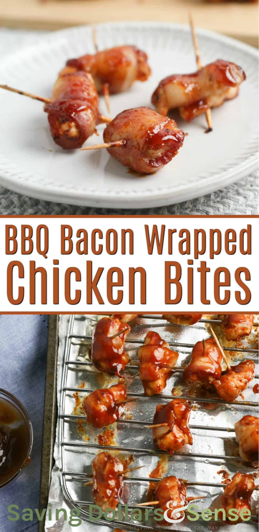 BBQ Bacon Wrapped Chicken Bites