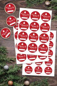Printable Christmas Jar Labels