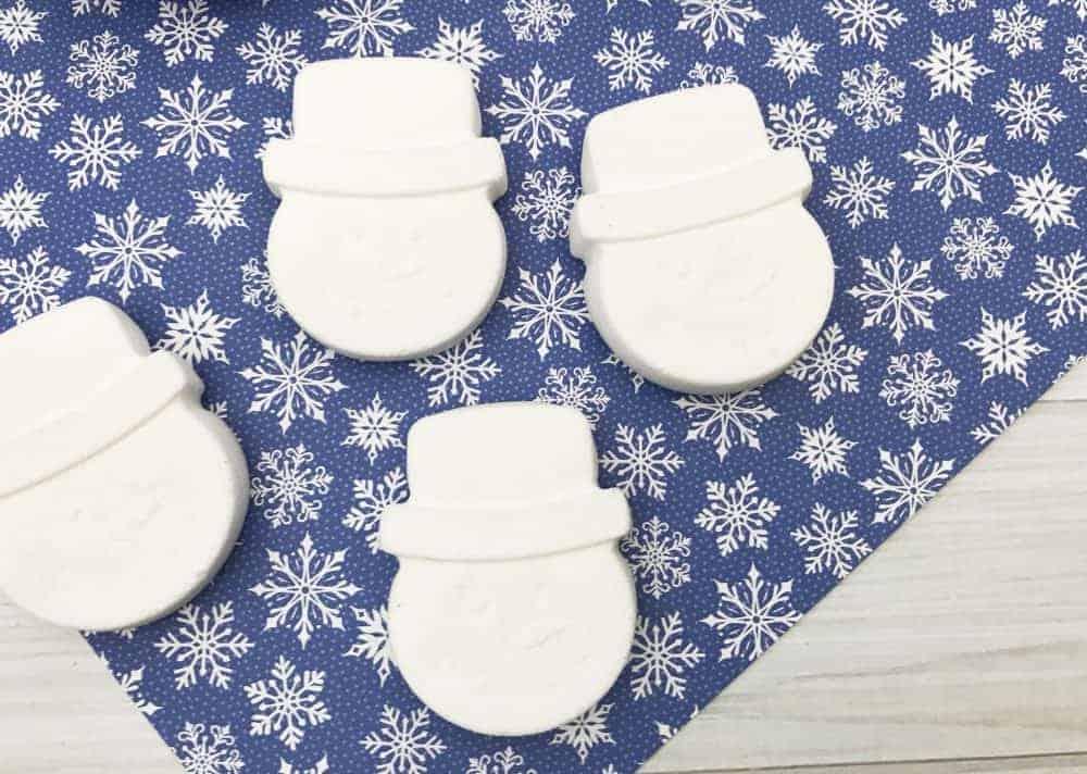 Snowman Fizzy Bath Bombs