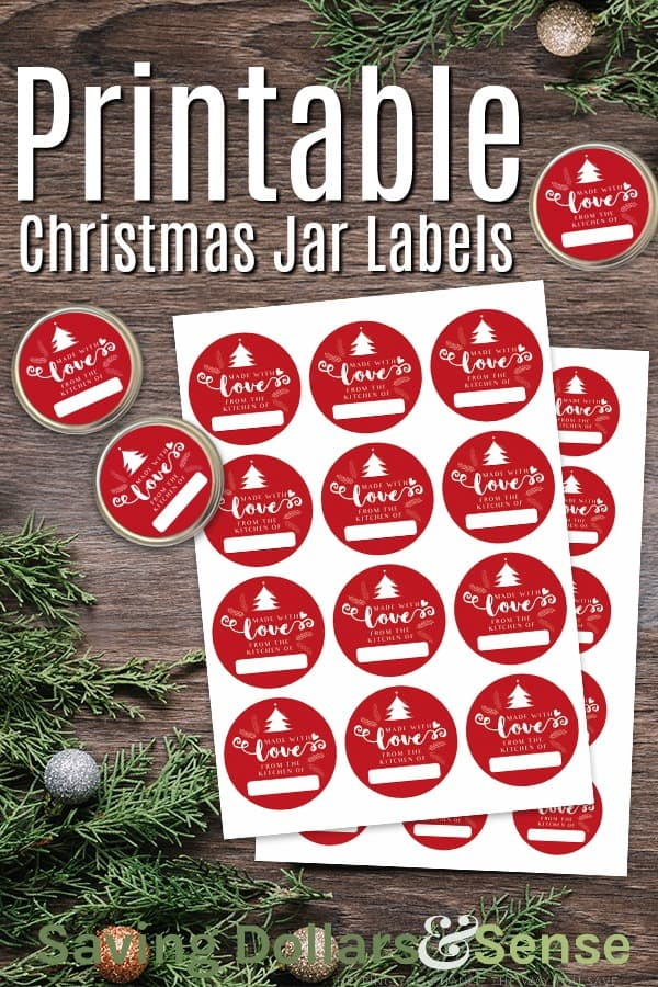 Free Printable Christmas Jar Labels