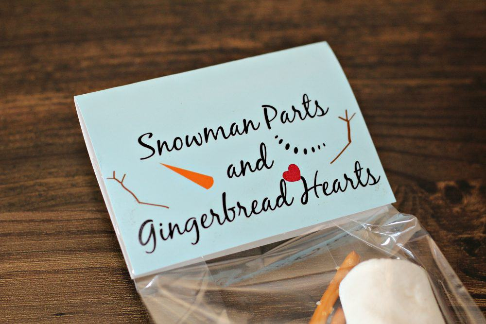 Snowman Parts and Gingerbread Hearts