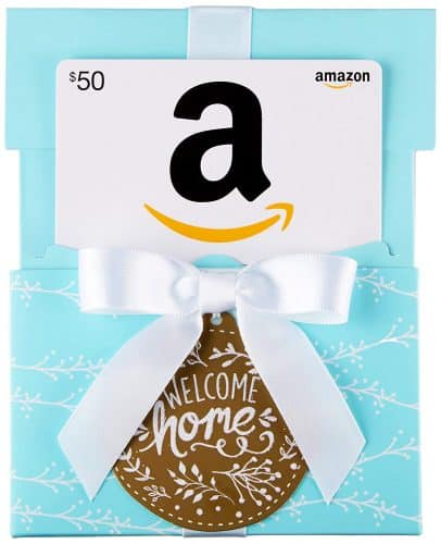 Amazon gift card. The Best Gifts for New Homeowners