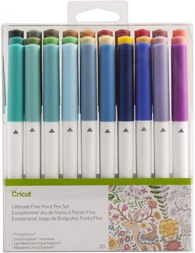 Cricut ultimate fine point pen set.