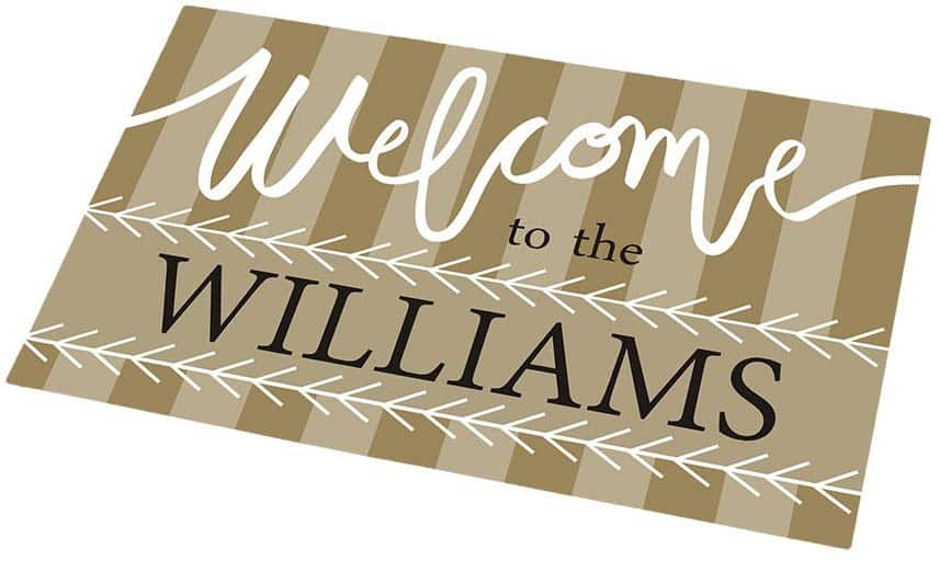 Personalized doormat. The Best Gifts for New Homeowners