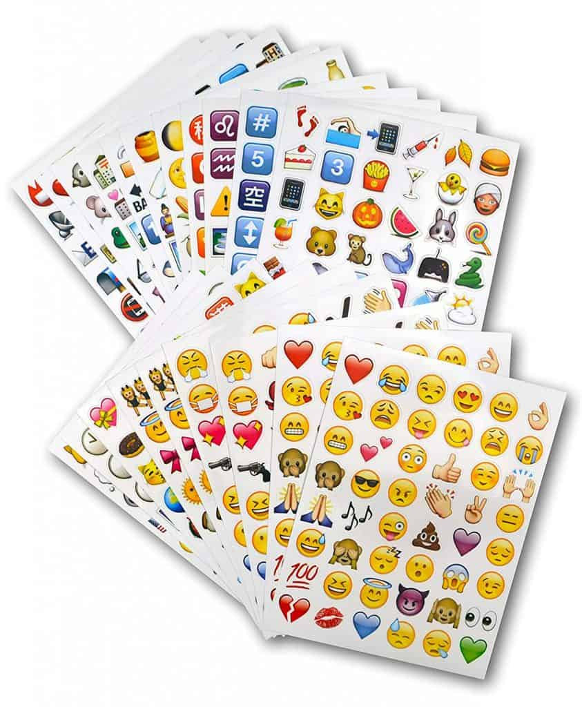 Emoji jumbo sticker pack.