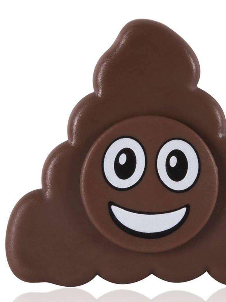 Poop emoji fidget spinner.
