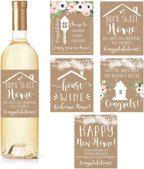 Homeowner wine labels. The Best Gifts for New Homeowners