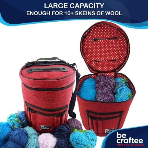 Be creative knitting loom bag.