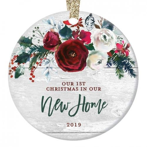 Porcelain homeowners ornament. The Best Gifts for New Homeowners