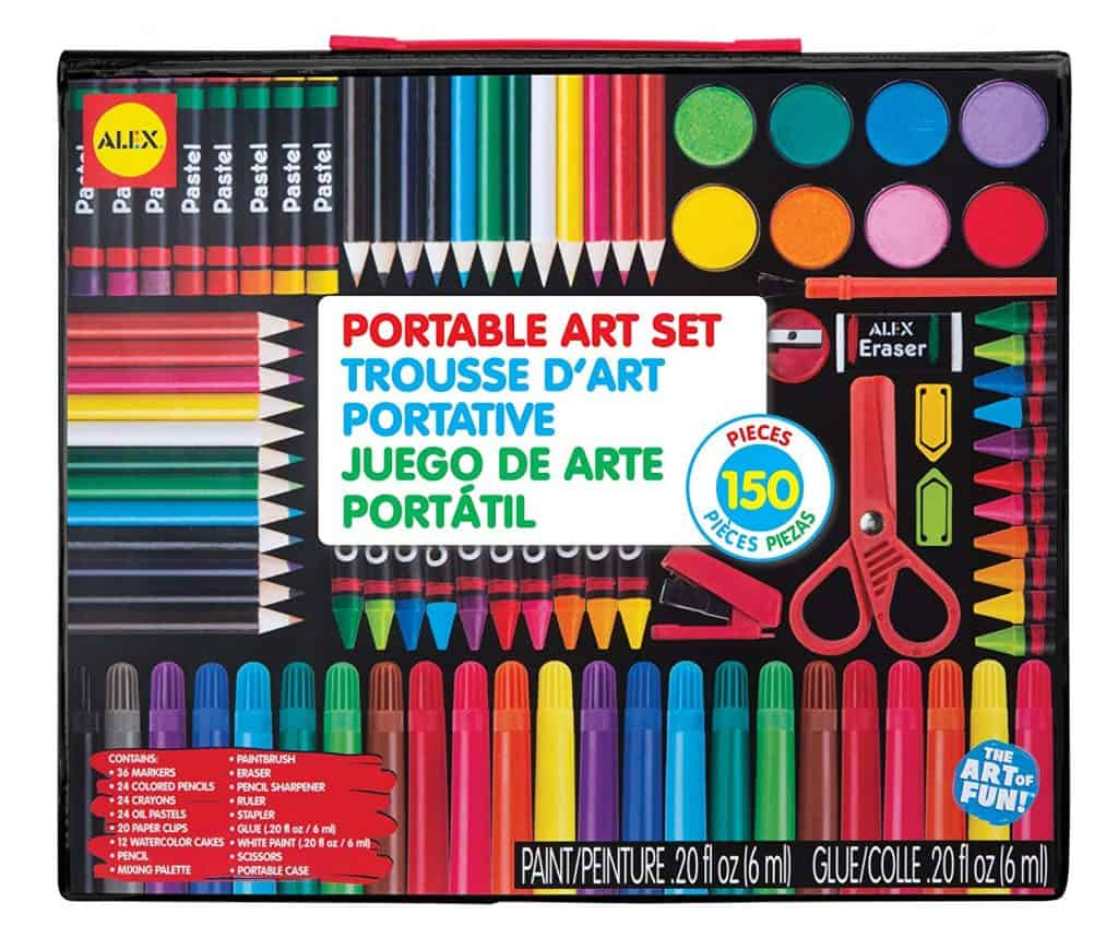 portable art set kids
