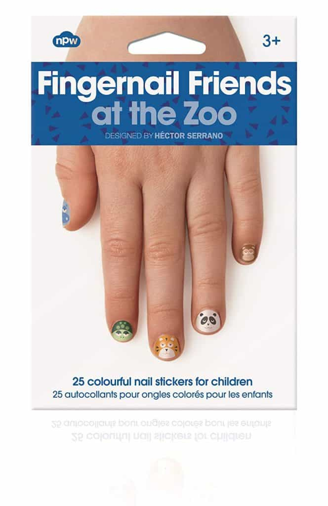 zoo fingernail stickers