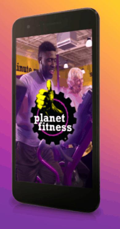 Planet Fitness smartphone.