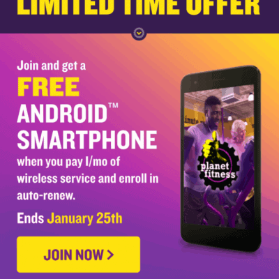 Get a Free LG Smartphone From Planet Fitness