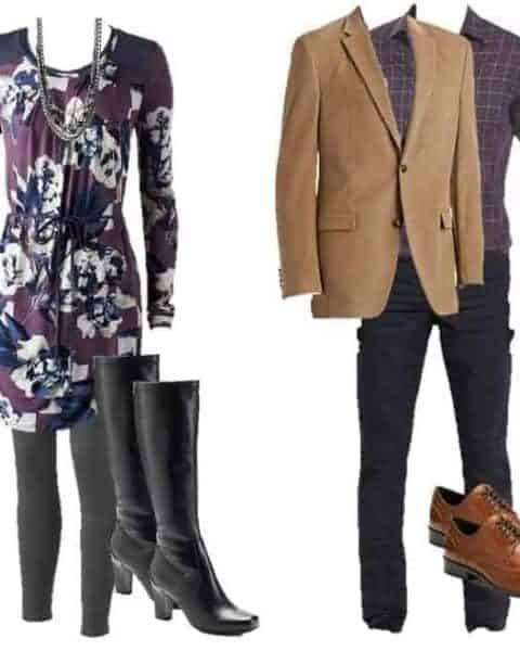 Valentine's Day outfit for a man and a woman