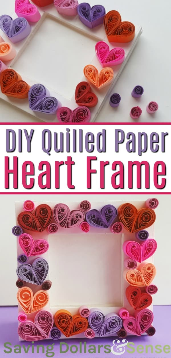 DIY Paper Quilling Art Photo Frame