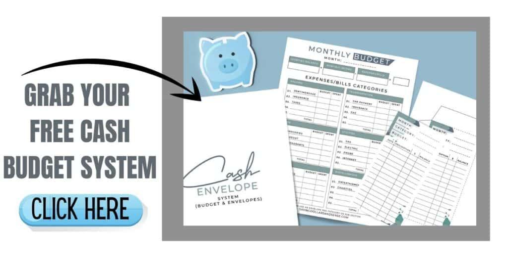 Grab your free cash budget system printables.