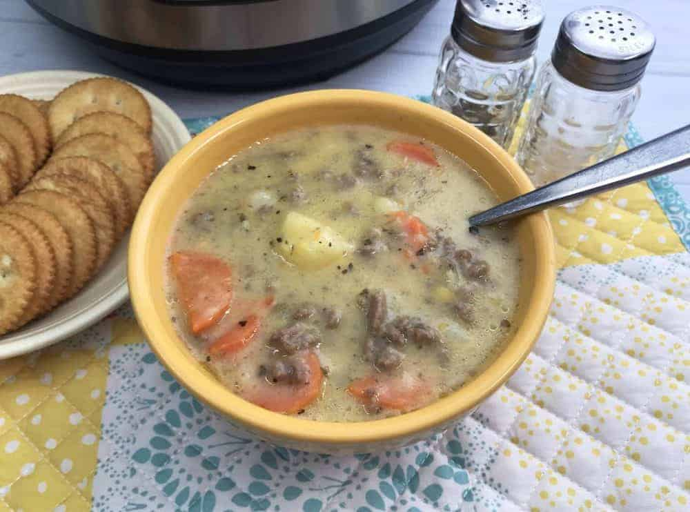 how to make cheeseburger soup