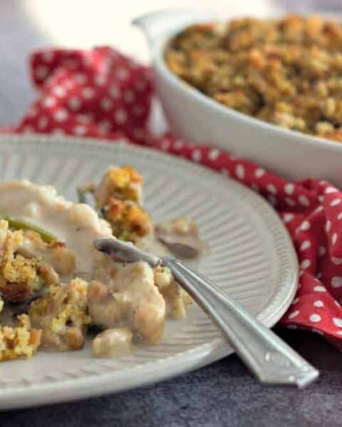 Chicken stuffing casserole.