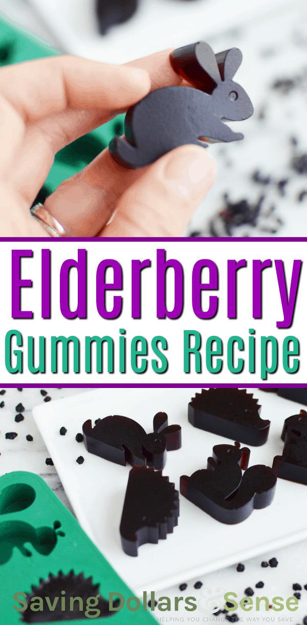 Easy Homemade Elderberry Gummies