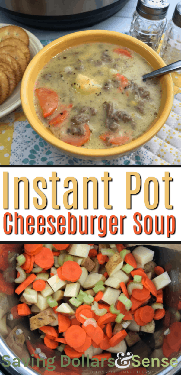 cheeseburger soup in the instant pot
