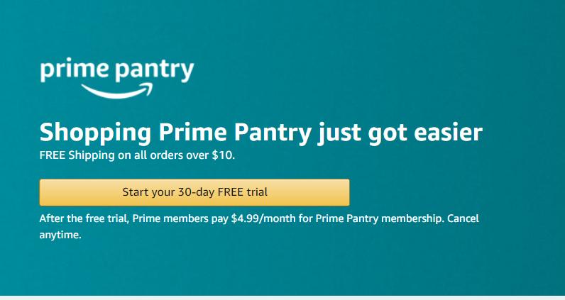 amazon prime pantry