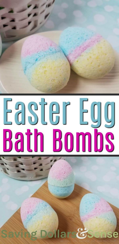 Colorful Easter Egg Bath Bombs