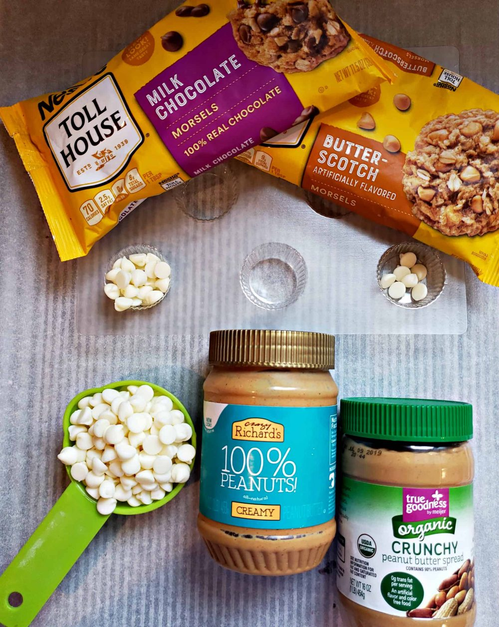 DIY Peanut Butter candy cups ingredients